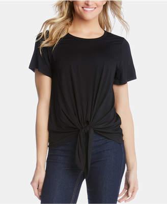Karen Kane Tie-Front Short-Sleeve Top