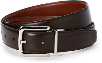 Cole Haan Tan & Brown Reversible Leather Harness Belt
