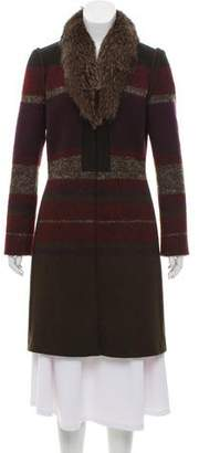 Etro Fur-Trimmed Knee-Length Coat