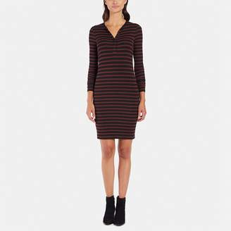ATM Anthony Thomas Melillo Long-Sleeve Henley Dress