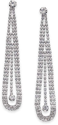 Thalia Sodi Silver-Tone Crystal Pendulum Drop Earrings, Created for Macy's