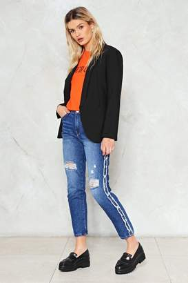 Nasty Gal Break the Mold Distressed Jeans