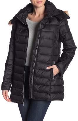 Andrew Marc Zip-Up Faux Fur Trim Jacket