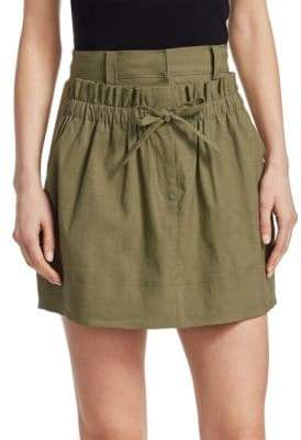 A.L.C. Kent Linen Mini Skirt