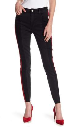 Romeo & Juliet Couture Side Stripe Paneled Denim Jeans