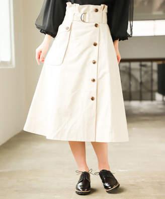 Misty women ツイルカーゴフレアスカート