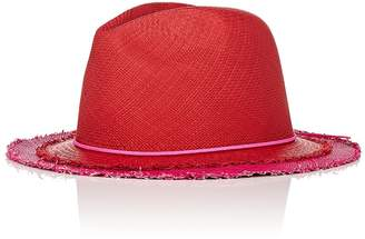 Lafayette House of Women's Johnny 4 Layered-Look Straw Panama Hat