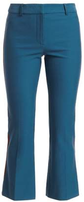 Derek Lam 10 Crosby Side Stripe Cropped Flare Pants
