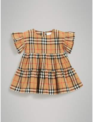 Burberry Ruffle Detail Vintage Check Dress with Bloomers