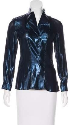 Akris Metallic Silk Top