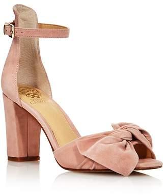 Vince Camuto Women's Carrelen Suede Bow Block Heel Sandals - 100% Exclusive