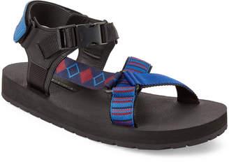 Prada Nylon Strappy Flat Sandals