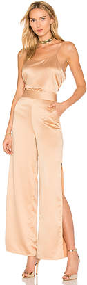 House of Harlow 1960 x REVOLVE Hunter Jumpsuit in Tan $208 thestylecure.com