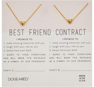 Dogeared Best Friend Contract, Set of 2 Heart Bead Necklaces Necklace