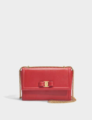 Salvatore Ferragamo Ginny Bag in Red Score Leather