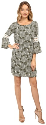 Christin Michaels - Lexington Crochet Sleeve Dress Women's Dress $74 thestylecure.com