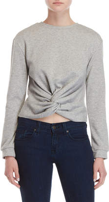 Central Park West Clover Twist Front Sweatshirt