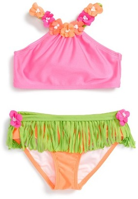 Girl's Love U Lots Hula Two-Piece Swimsuit $36 thestylecure.com