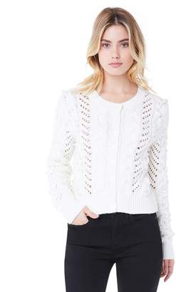 Juicy Couture Faux Pearl Embellished Cardigan