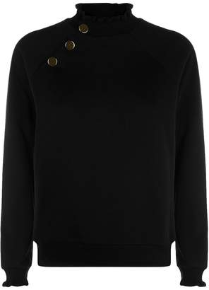 Claudie Pierlot Asymmetric Button Sweater