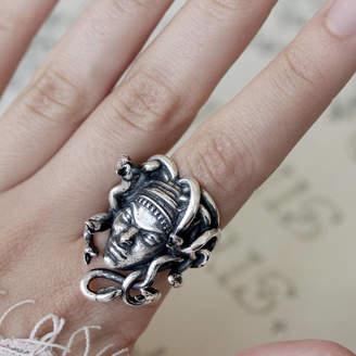 MeDusa RegalRose Detailed Ornate Sterling Silver Ring
