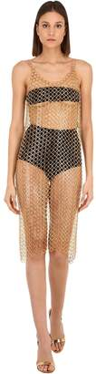 Paco Rabanne BRASS CHAIN MIDI DRESS