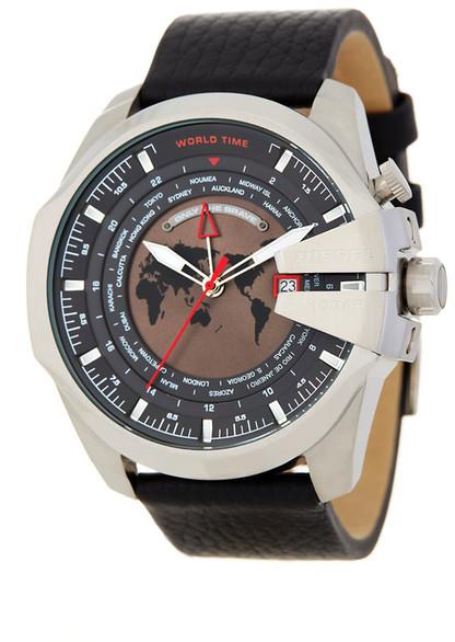 DieselDiesel Men&s Mega Chief Leather Watch