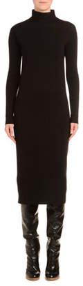 Agnona Mock-Neck Wool Pencil Dress