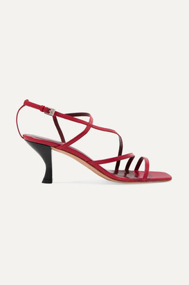 STAUD Gita Leather Sandals - Red