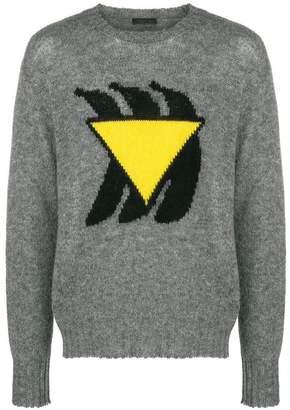 Prada banana knit sweater