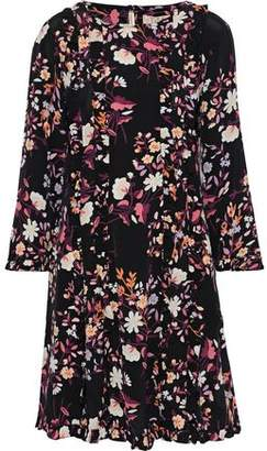 By Ti Mo Bytimo Ruffle-trimmed Floral-print Crepe De Chine Mini Dress