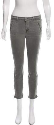 J Brand Mid-Rise Zip-Accented Pants