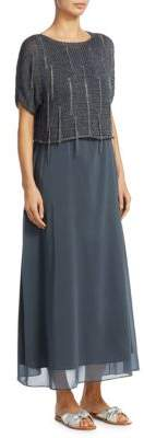 Fabiana Filippi Knit Lurex Silk Dress