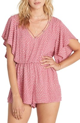 Women's Billabong Strap Up Polka Dot Romper $49.95 thestylecure.com