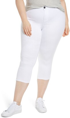 1822 Denim Slit Hem Super Crop Skinny Jeans