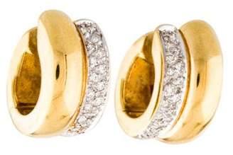 H.Stern 18K Diamond Hoop Earrings