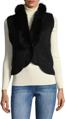 Roberto Cavalli Women's Ribbed Hem Vest