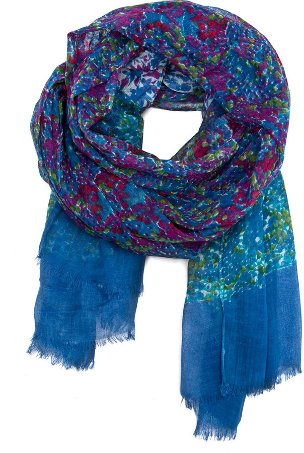 MANGO Flowery print scarf