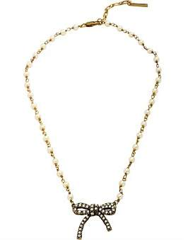 Marc Jacobs Bow Pearl Pendant