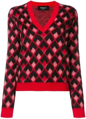 Rochas geometric intarsia jumper