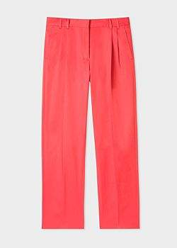 Victoria, Victoria Beckham Woman Stretch Wool-blend Flared Pants Coral Size 12 Victoria Beckham