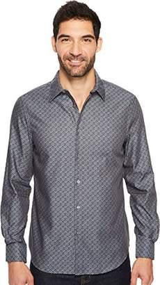 Perry Ellis Men's Long Sleeve Wave Printed Shirt