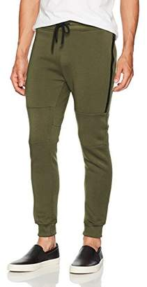 Southpole Men's Basic Jogger Fleece Pants (Moto and Zipper Details)