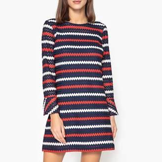 Liu Jo Openwork Knit Dress with 3/4 Length Sleeves