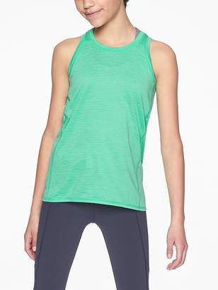 Athleta Girl Shadow Stripe Power of Chi Tank