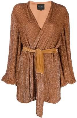 retrofete waist-tied mini dress