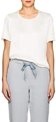 Raquel Allegra Women's Textured Satin T-Shirt