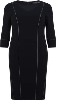Marina Rinaldi Contrast Stitch Pencil Dress