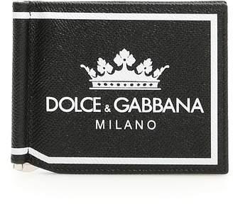Dolce & Gabbana Crown Money Clip Wallet