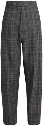 Vetements Prince of Wales-check wide-leg trousers